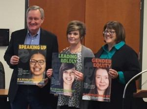 Senator Crapo, Kim Deugan, and Kelly Miller