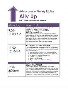 Ally Up Agenda_Advocates_Hailey
