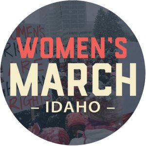 Women's March on Idaho button