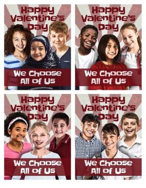 We Choose All of Us Valentine's Cards