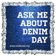 WCA Denim Day Sticker
