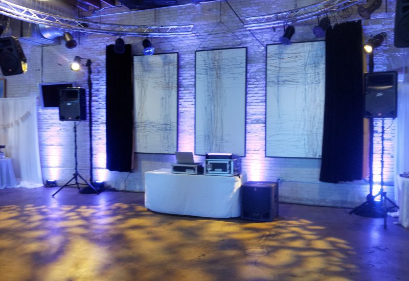 Sara u0026 Dylan Photography The Linen Building Boise Wedding Sound Wave Music u0026 Lighting Design Boise DJ.jpg & Linen Building   Engaging Voices