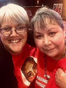 Kelly and Bernie at Missing and Murdered Indigenous Women Coference in Coeur d'Alene