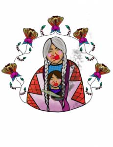 """""""Matriarchy"""" by Elsie Cree, Nez Perce Tribe, Lapwai, ID"""