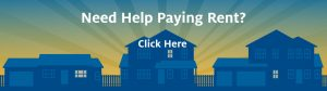 "Banner that says ""Need Help Paying Rent? Click here"""