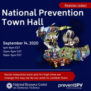 national prevention town hall flyer